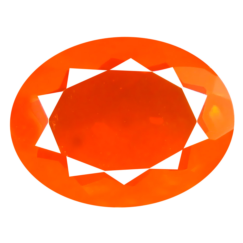 2.33 ct Sparkling Oval Cut (13 x 10 mm) Mexico Orange Red Fire Opal Natural Gemstone