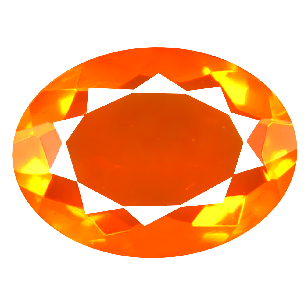 2.32 ct Magnificent Oval Cut (13 x 9 mm) Mexico Orange Red Fire Opal Natural Gemstone