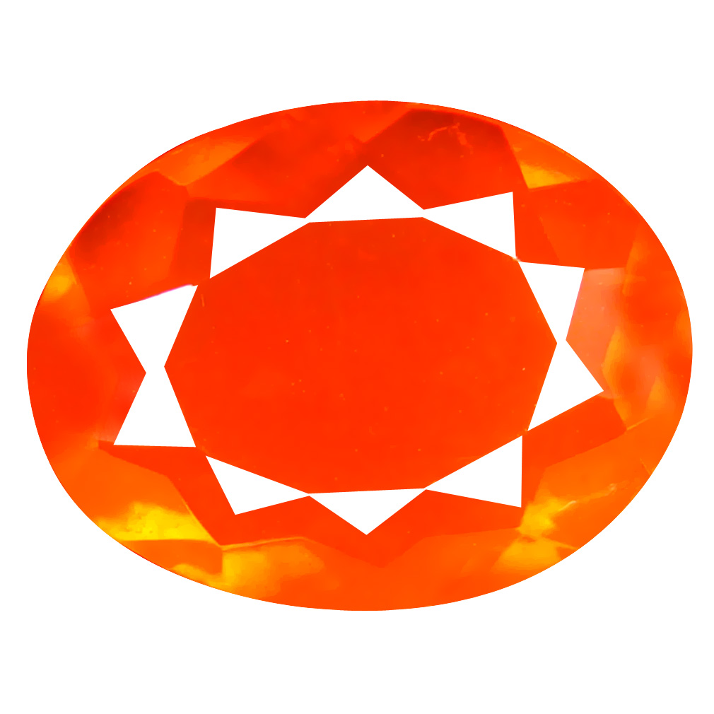 2.23 ct Astonishing Oval Cut (13 x 10 mm) Mexico Orange Red Fire Opal Natural Gemstone