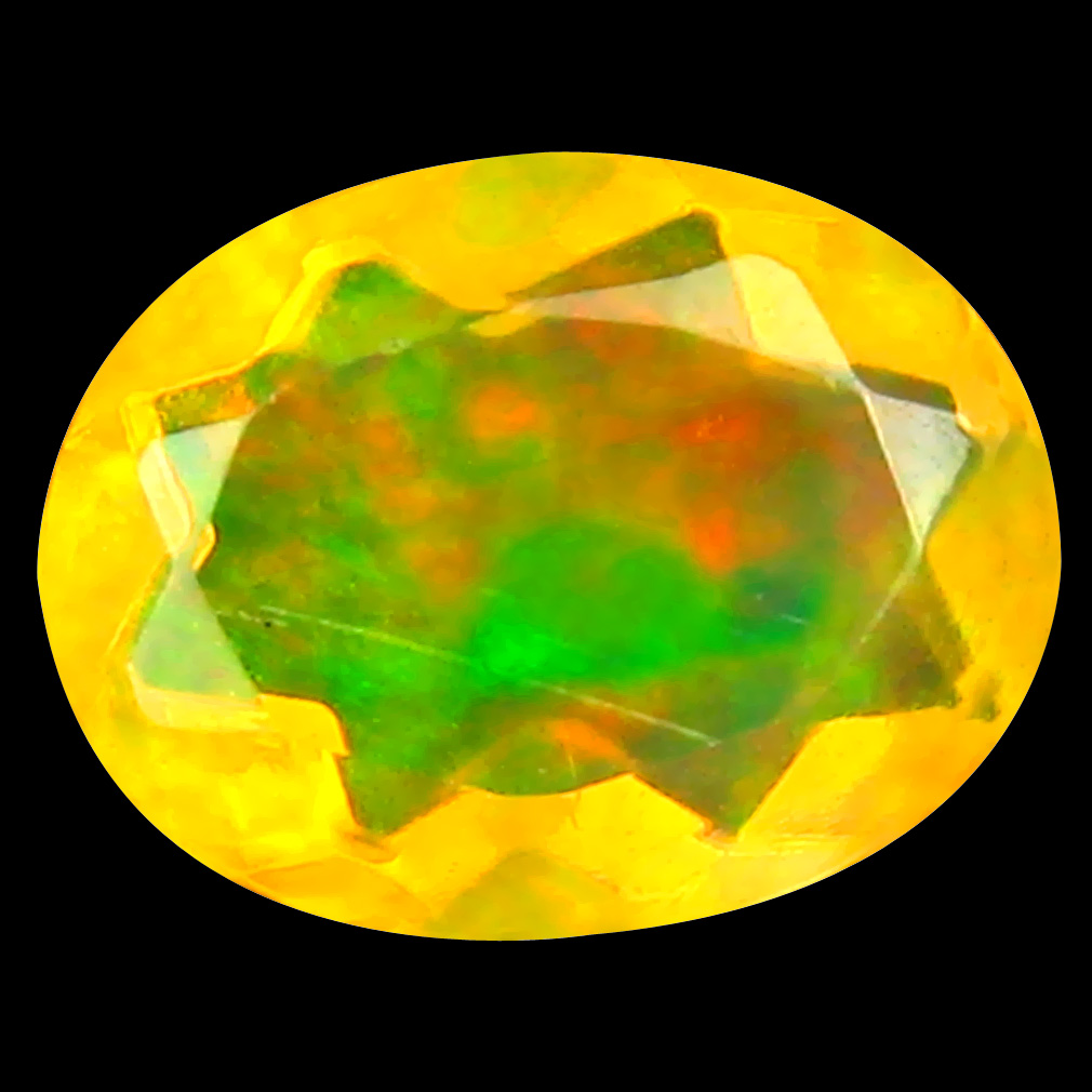 1.09 ct Attractive Oval (9 x 7 mm) Un-Heated Ethiopia Rainbow Opal Loose Gemstone