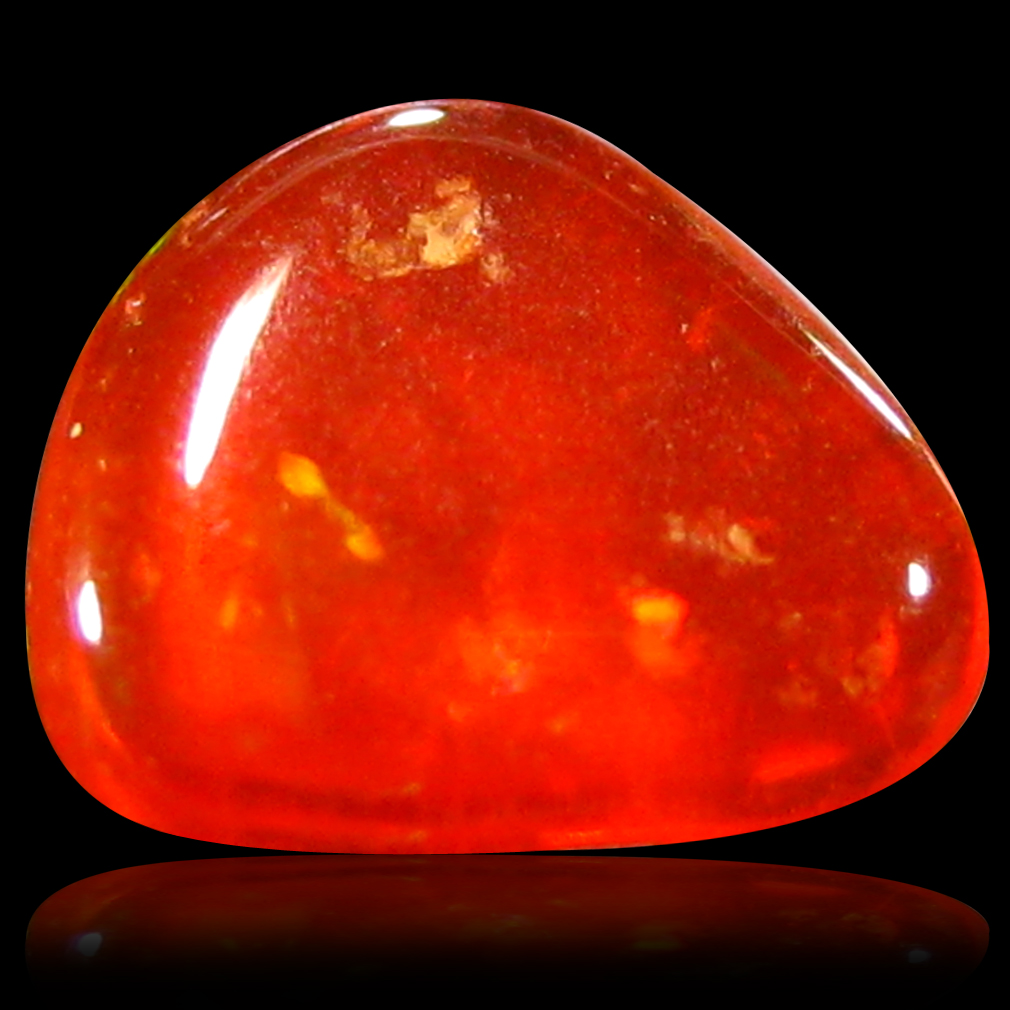 0.66 ct AAA Exquisite Fancy Cabochon Shape (7 x 7 mm) Natural Red Fire Opal Loose Stone
