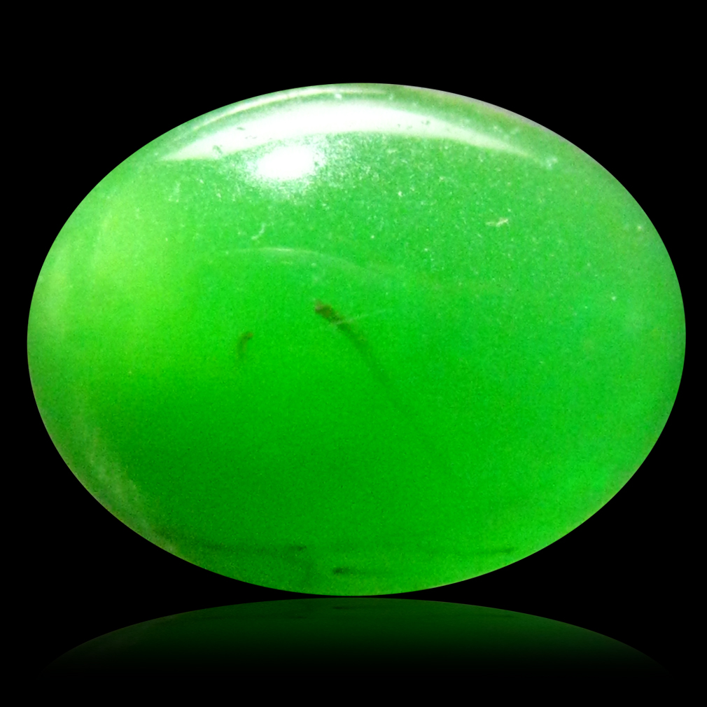 1.73 ct  Beautiful Oval Cabochon Shape (11 x 8 mm) Green Opal Natural Gemstone