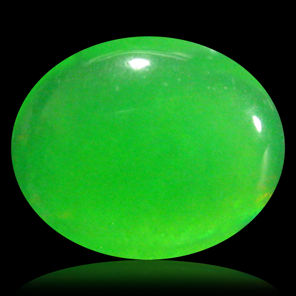 1.64 ct  Eye-opening Oval Cabochon Shape (10 x 8 mm) Green Opal Natural Gemstone