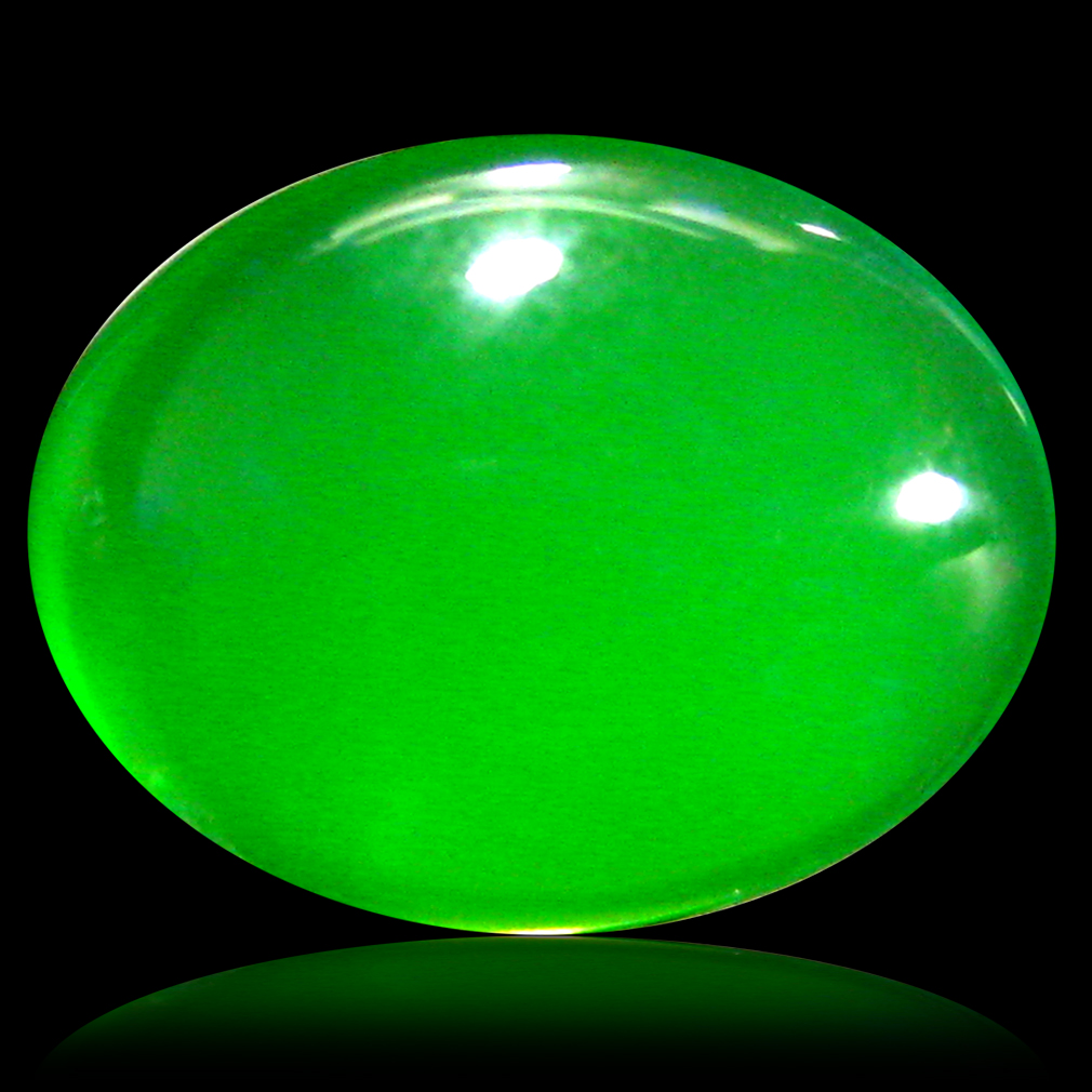 1.93 ct  Marvelous Oval Cabochon Shape (10 x 8 mm) Green Opal Natural Gemstone