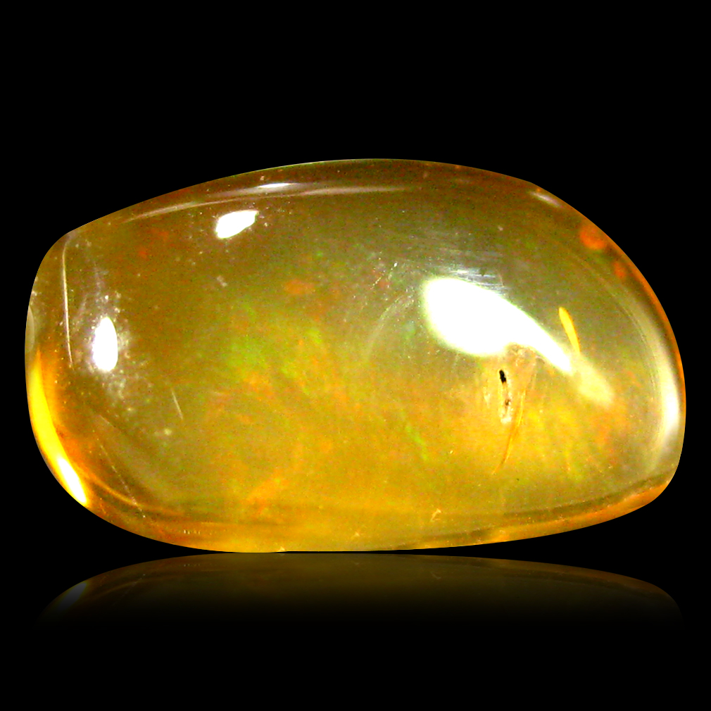 2.52 ct AAA Marvelous Fancy Cabochon Shape (12 x 7 mm) Natural Orange Fire Opal Loose Stone