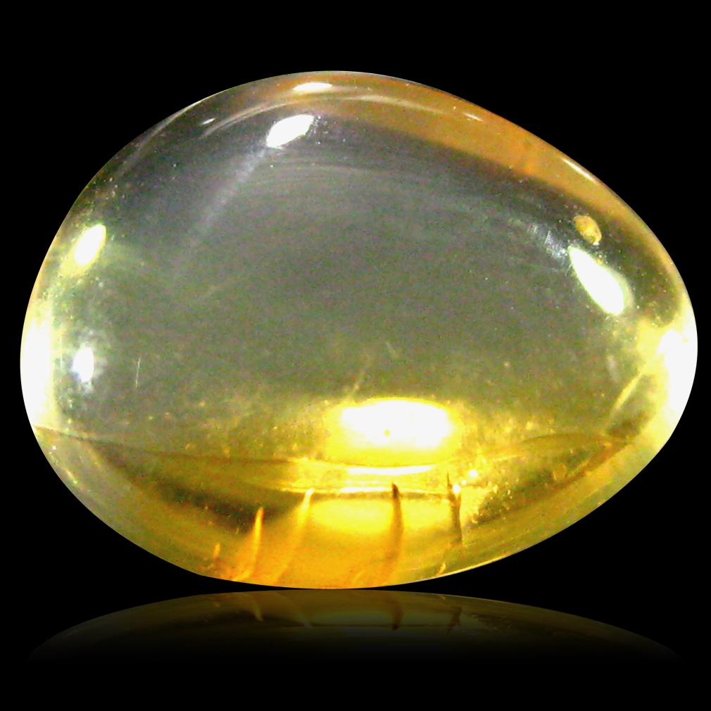 2.43 ct AAA Five-star Fancy Cabochon Shape (11 x 8 mm) Natural Orange Fire Opal Loose Stone