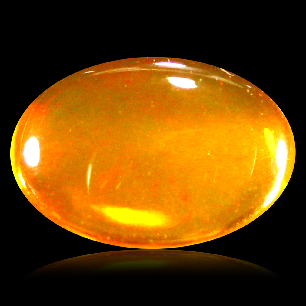 0.99 ct AAA Superior Fancy Cabochon Shape (9 x 6 mm) Natural Orange Fire Opal Loose Stone