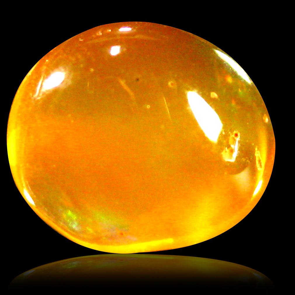 1.63 ct AAA World class Fancy Cabochon Shape (8 x 7 mm) Natural Orange Fire Opal Loose Stone