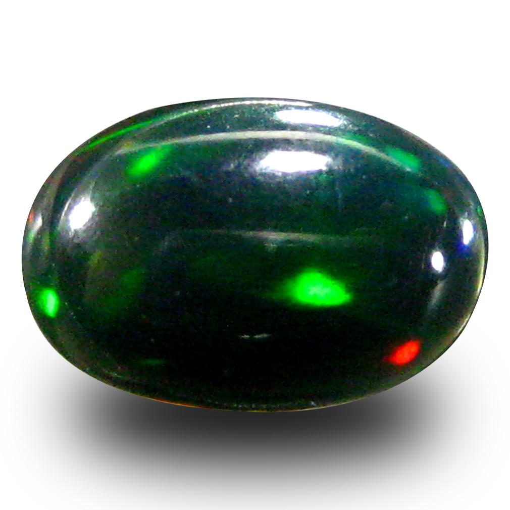 0.61 ct AAA Beautiful Oval Cabochon Shape (8 x 5 mm) Natural Black Opal Loose Stone