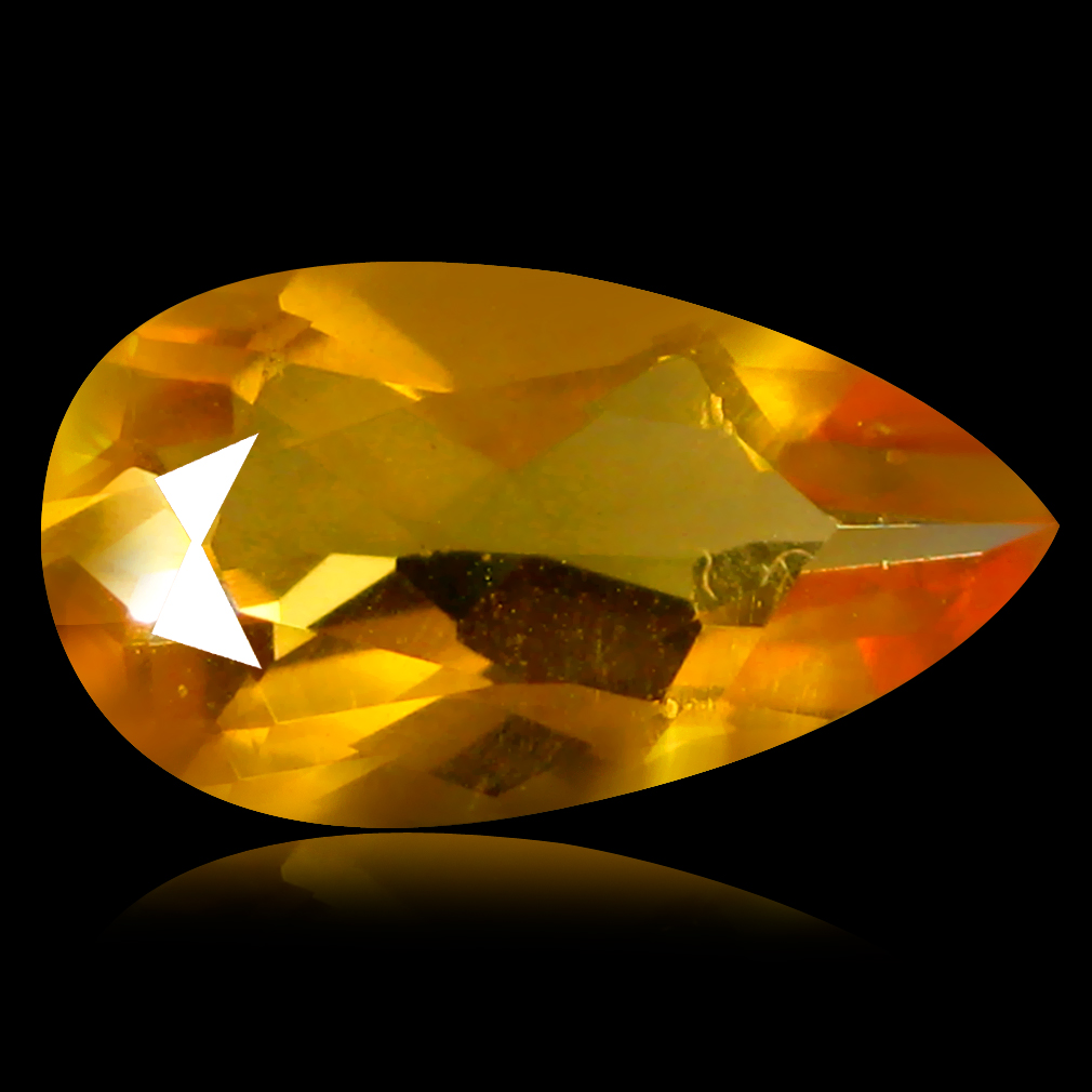 1.04 ct Great looking Pear Cut (11 x 6 mm) Un-Heated Natural Red Fire Opal Loose Gemstone