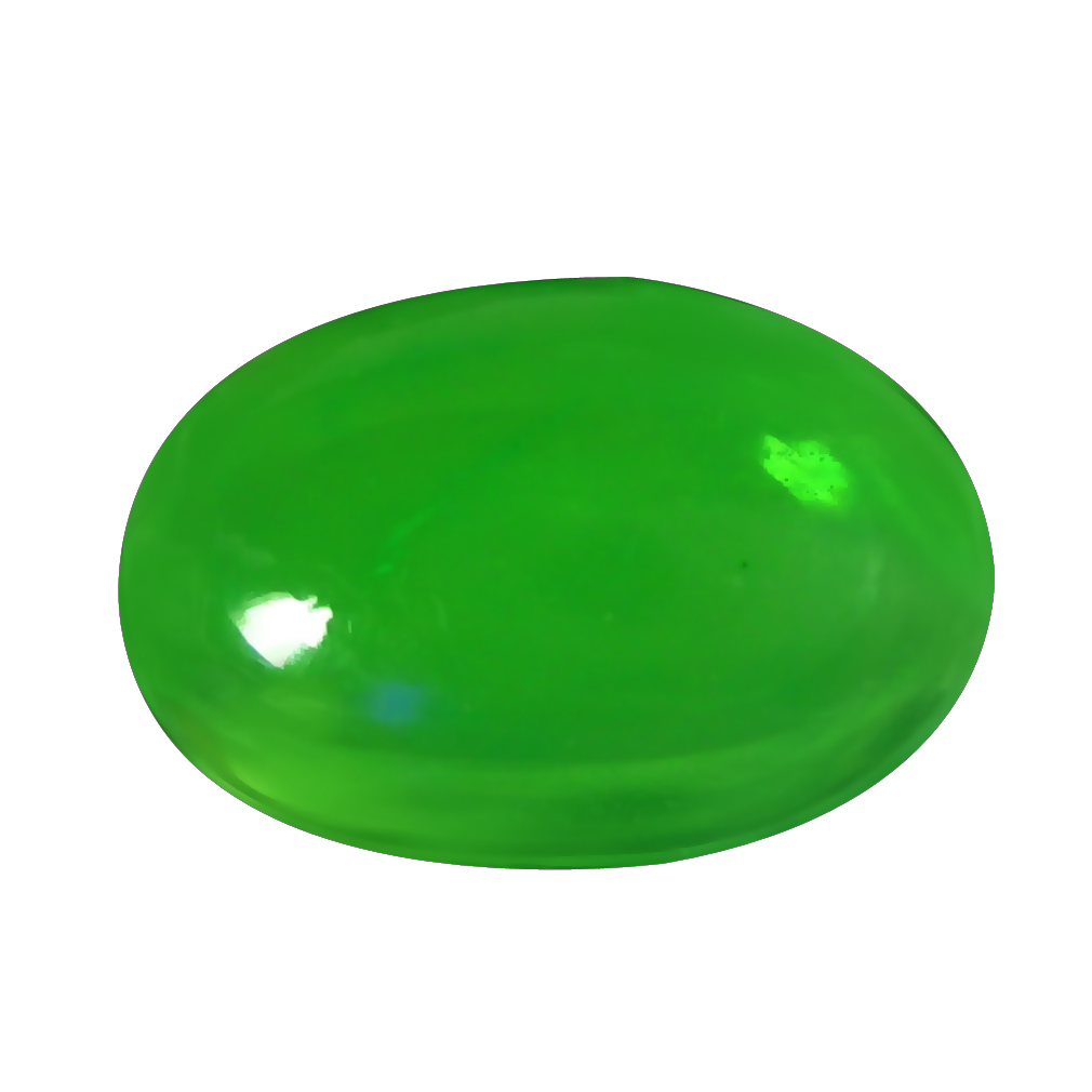 1.19 ct  Tremendous Oval Cabochon Shape (11 x 8 mm) Green Opal Natural Gemstone