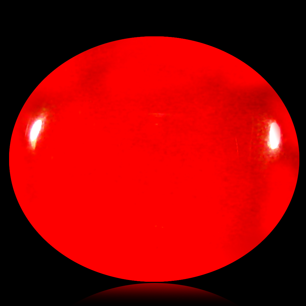 1.25 ct  Eye-catching Oval Cabochon Shape (9 x 8 mm) Red Opal Natural Gemstone