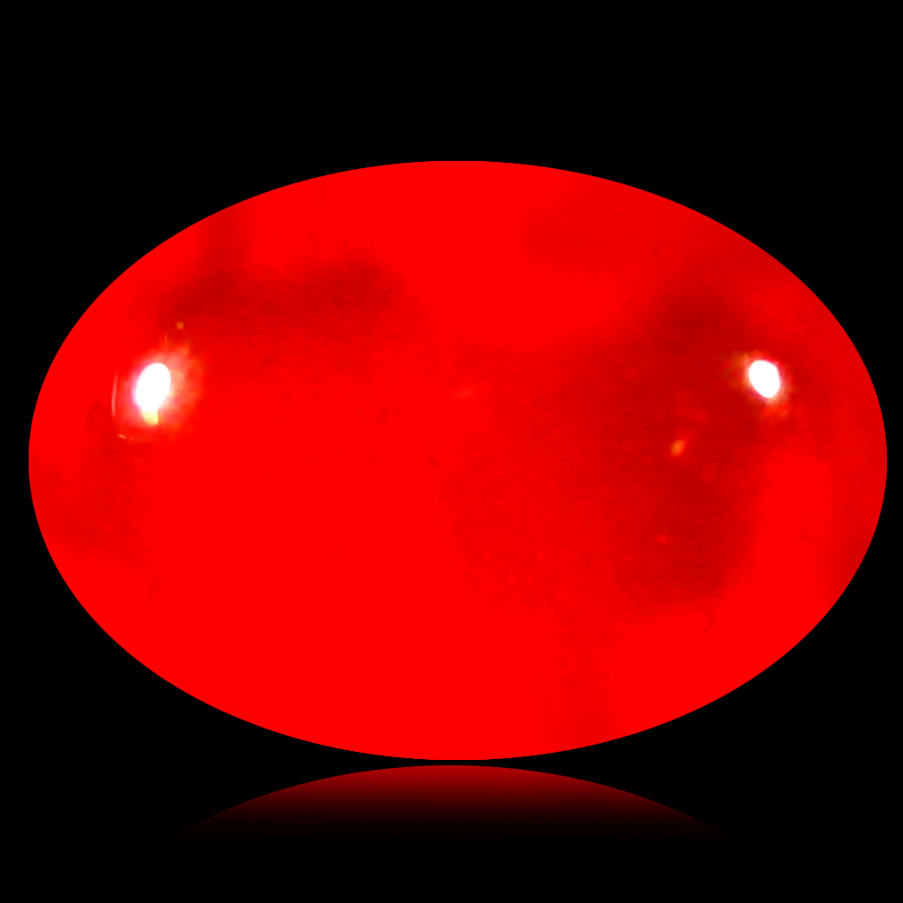 1.61 ct  Charming Oval Cabochon Shape (10 x 7 mm) Red Opal Natural Gemstone
