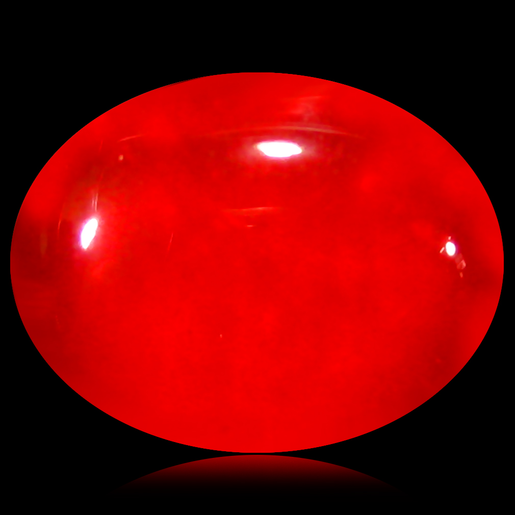 1.22 ct  Great looking Oval Cabochon Shape (9 x 7 mm) Red Opal Natural Gemstone