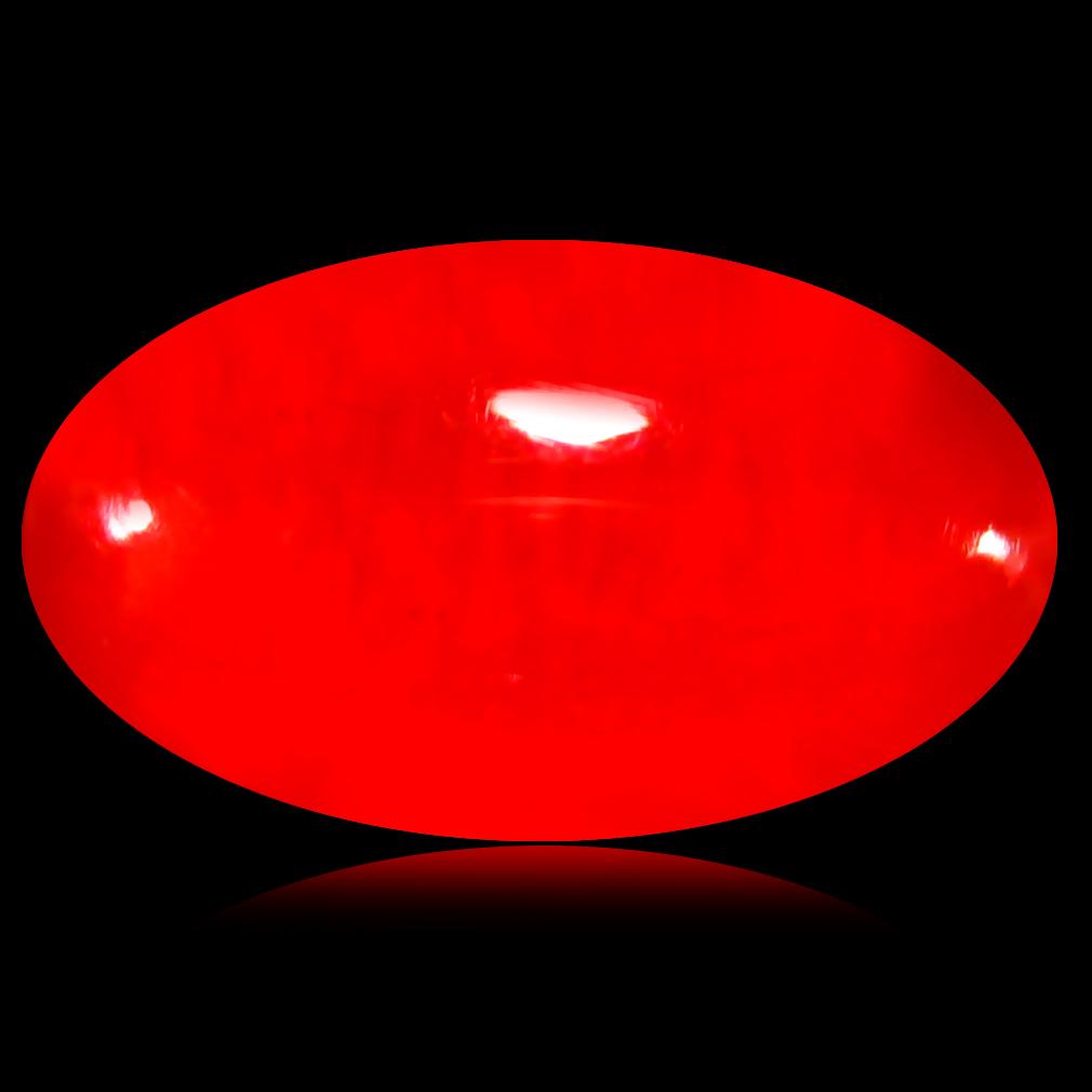1.29 ct  Mind-Boggling Oval Cabochon Shape (12 x 7 mm) Red Opal Natural Gemstone
