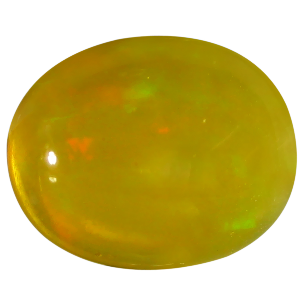 1.56 ct  Remarkable Oval Cabochon Shape (9 x 7 mm) Yellow Opal Natural Gemstone