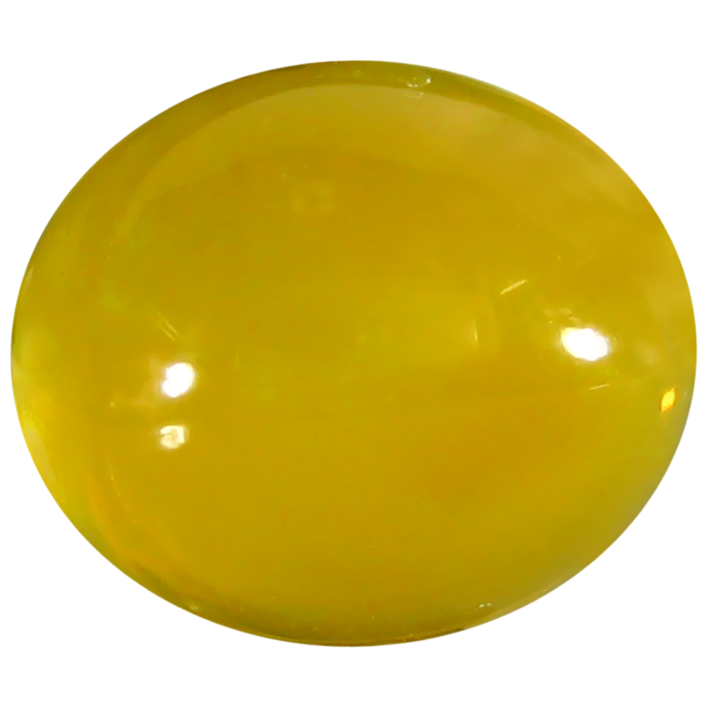 2.08 ct  Extraordinary Oval Cabochon Shape (11 x 9 mm) Yellow Opal Natural Gemstone