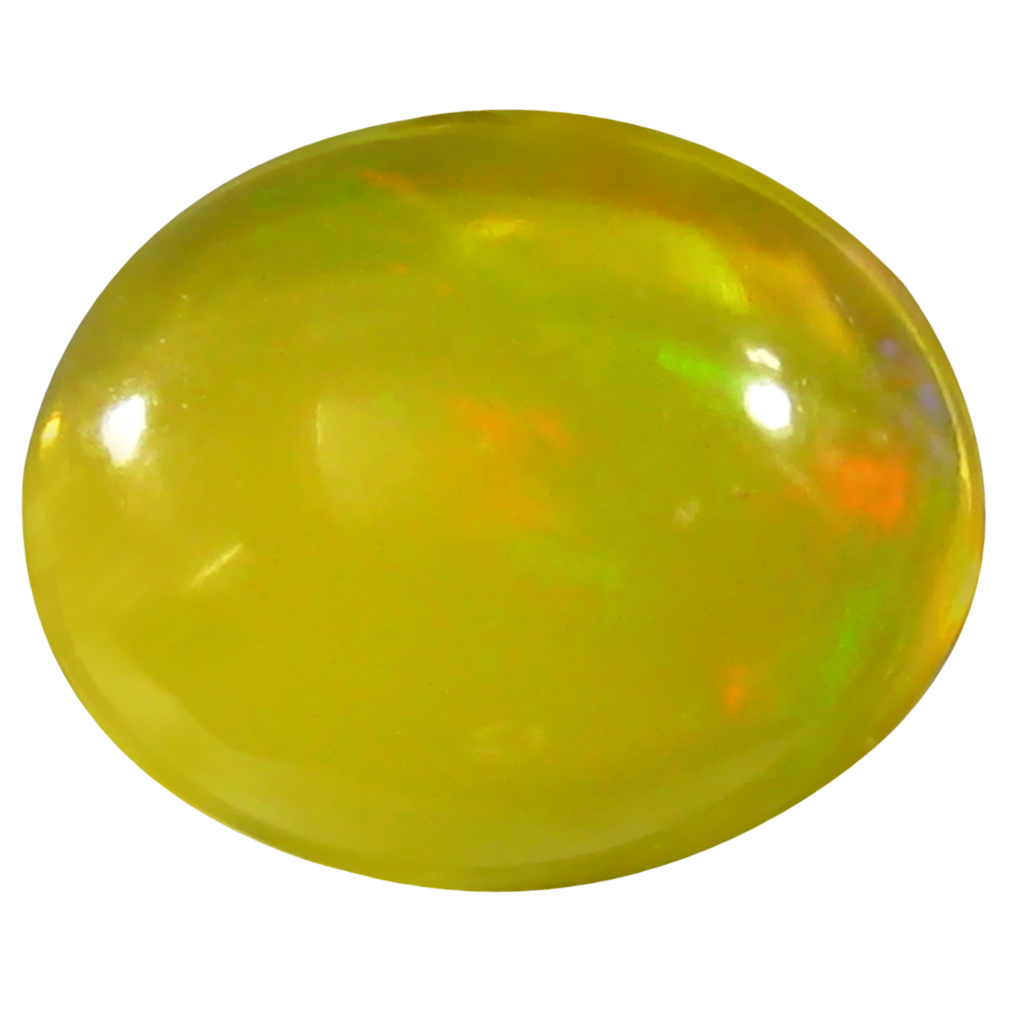 1.79 ct  Significant Oval Cabochon Shape (10 x 8 mm) Yellow Opal Natural Gemstone