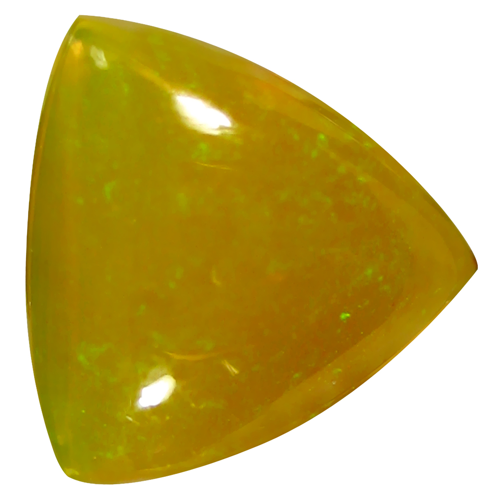 1.74 ct  Incredible Triangle Cabochon Shape (9 x 9 mm) Yellow Opal Natural Gemstone