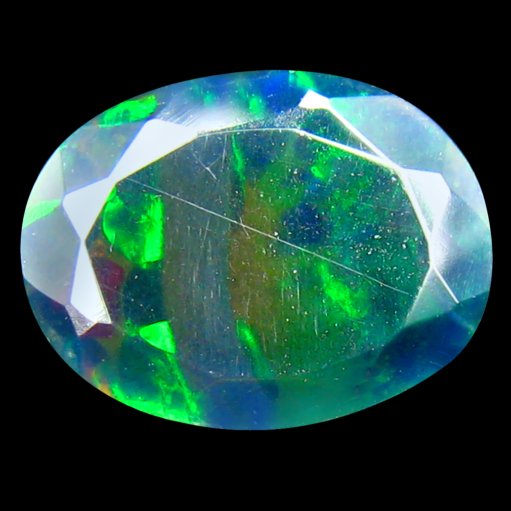 1.08 ct AAA+ Attractive Oval Shape (10 x 8 mm) Play of Colors Black Opal Natural Gemstone