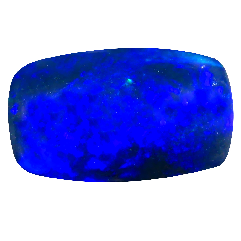 3.21 ct AAA Magnificent Cushion Cabochon Shape (14 x 8 mm) Natural Black Opal Loose Stone