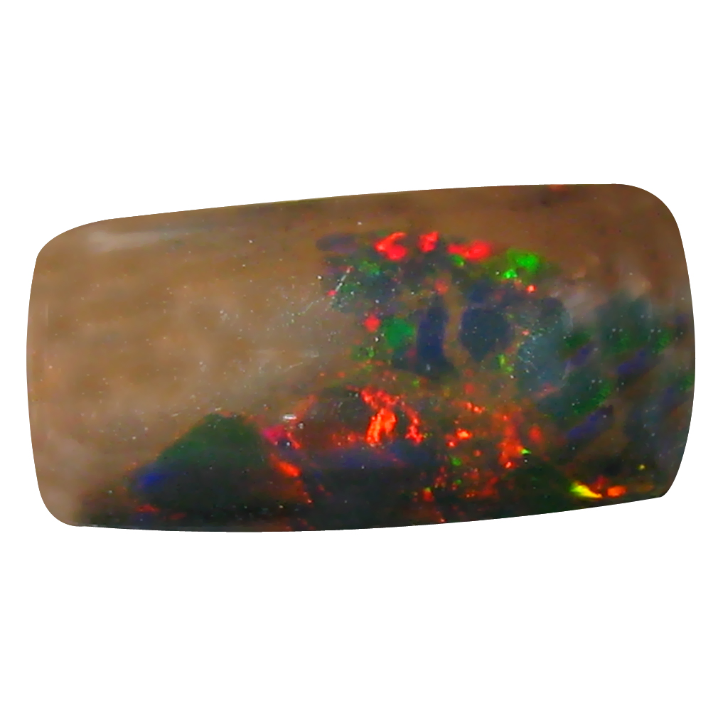3.04 ct AAA Great looking Cushion Cabochon Shape (13 x 7 mm) Natural Black Opal Loose Stone