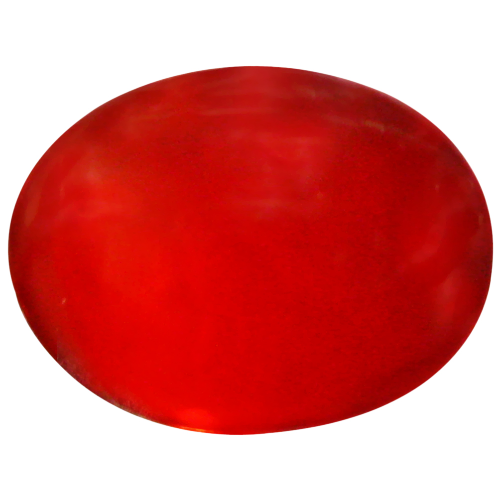 1.27 ct  Shimmering Oval Cabochon Shape (10 x 8 mm) Red Opal Natural Gemstone