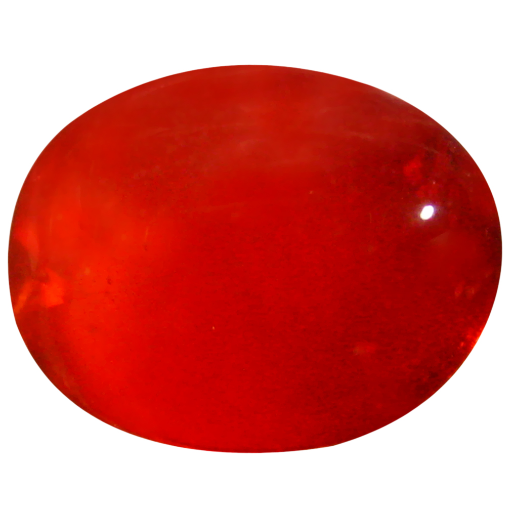 1.64 ct  Supreme Oval Cabochon Shape (9 x 7 mm) Red Opal Natural Gemstone