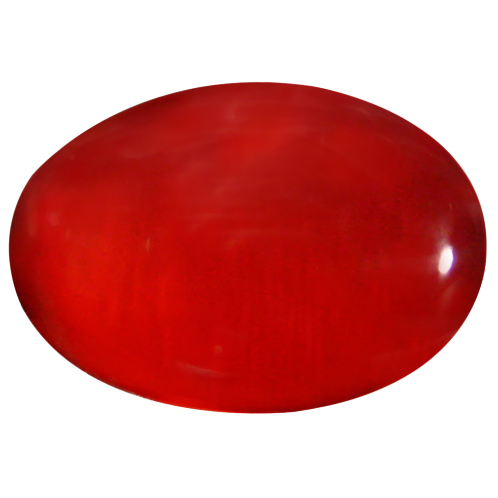1.25 ct  Phenomenal Oval Cabochon Shape (11 x 7 mm) Red Opal Natural Gemstone
