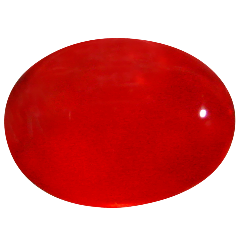 1.49 ct  Incredible Oval Cabochon Shape (10 x 7 mm) Red Opal Natural Gemstone