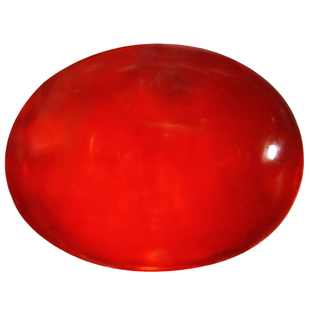 1.29 ct  Extraordinary Oval Cabochon Shape (9 x 7 mm) Red Opal Natural Gemstone