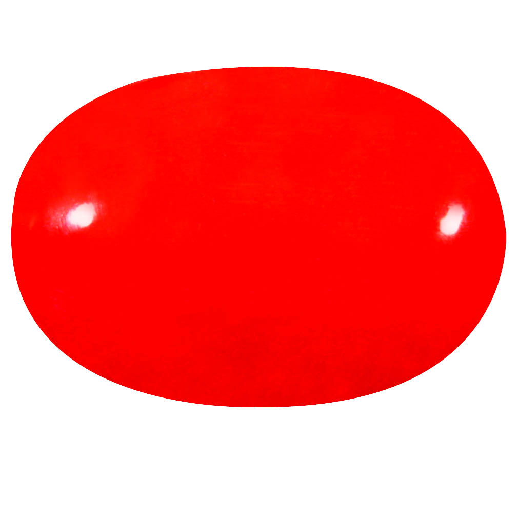 2.05 ct  Premium Oval Cabochon Shape (12 x 8 mm) Red Opal Natural Gemstone