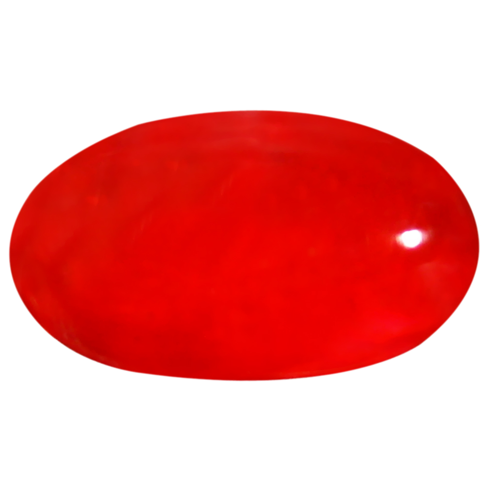 1.53 ct  Lovely Oval Cabochon Shape (11 x 6 mm) Red Opal Natural Gemstone