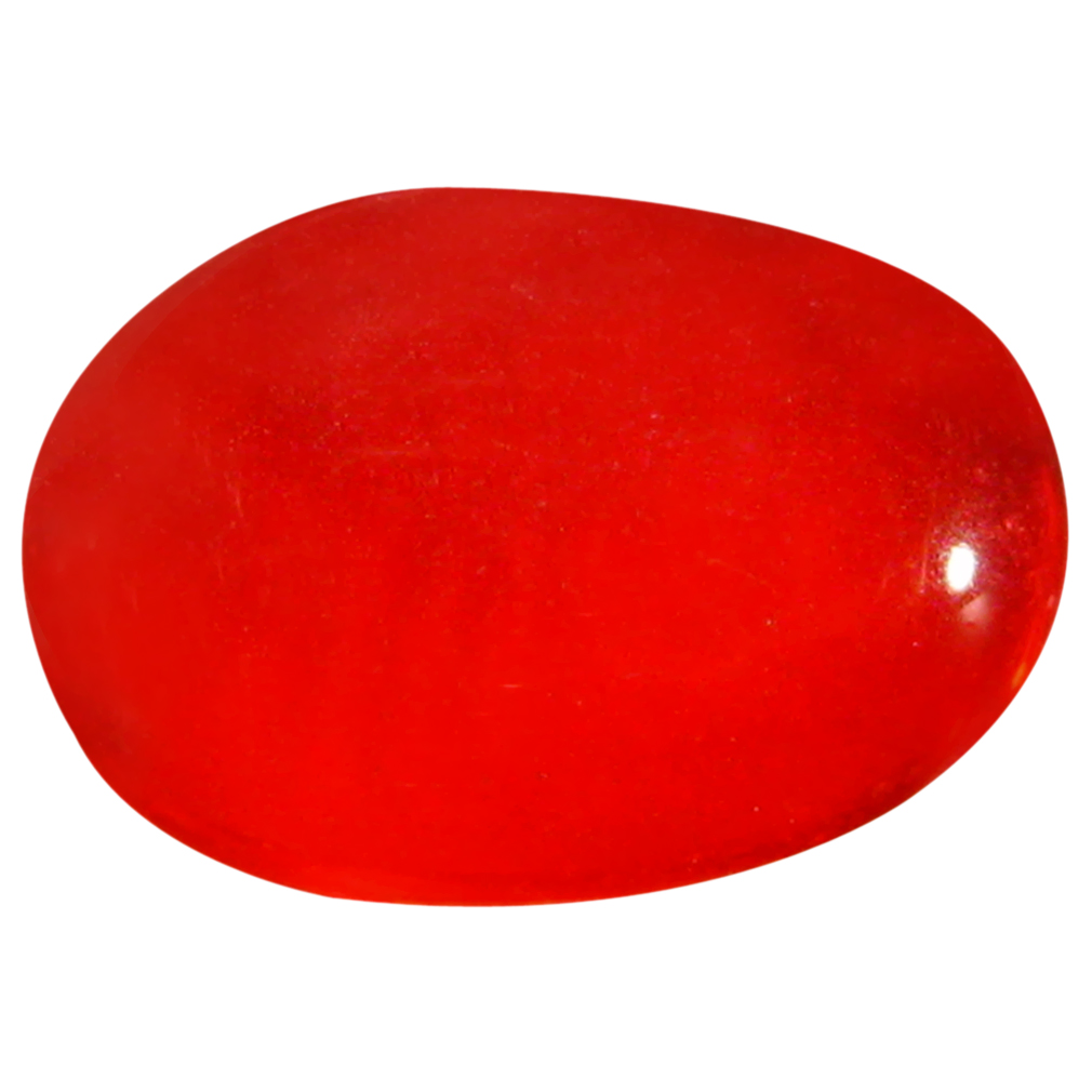 1.30 ct  Best Oval Cabochon Shape (9 x 6 mm) Red Opal Natural Gemstone