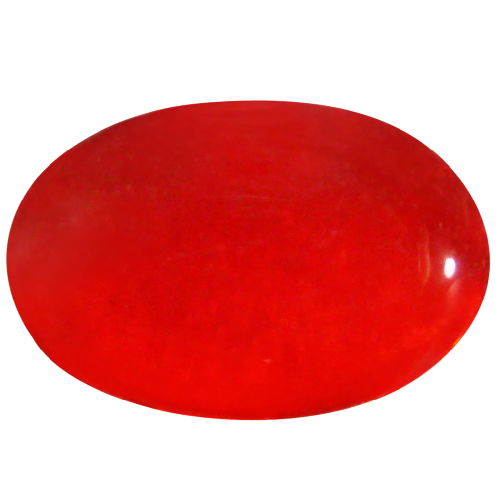 1.38 ct  Impressive Oval Cabochon Shape (10 x 7 mm) Red Opal Natural Gemstone