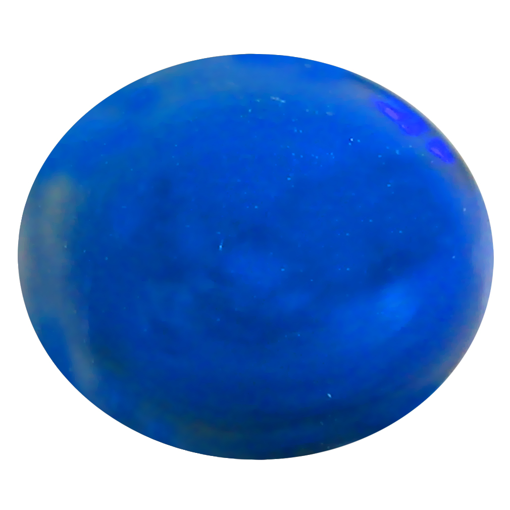 1.41 ct AAA Five-star Oval Cabochon Shape (9 x 8 mm) Natural Black Opal Loose Stone