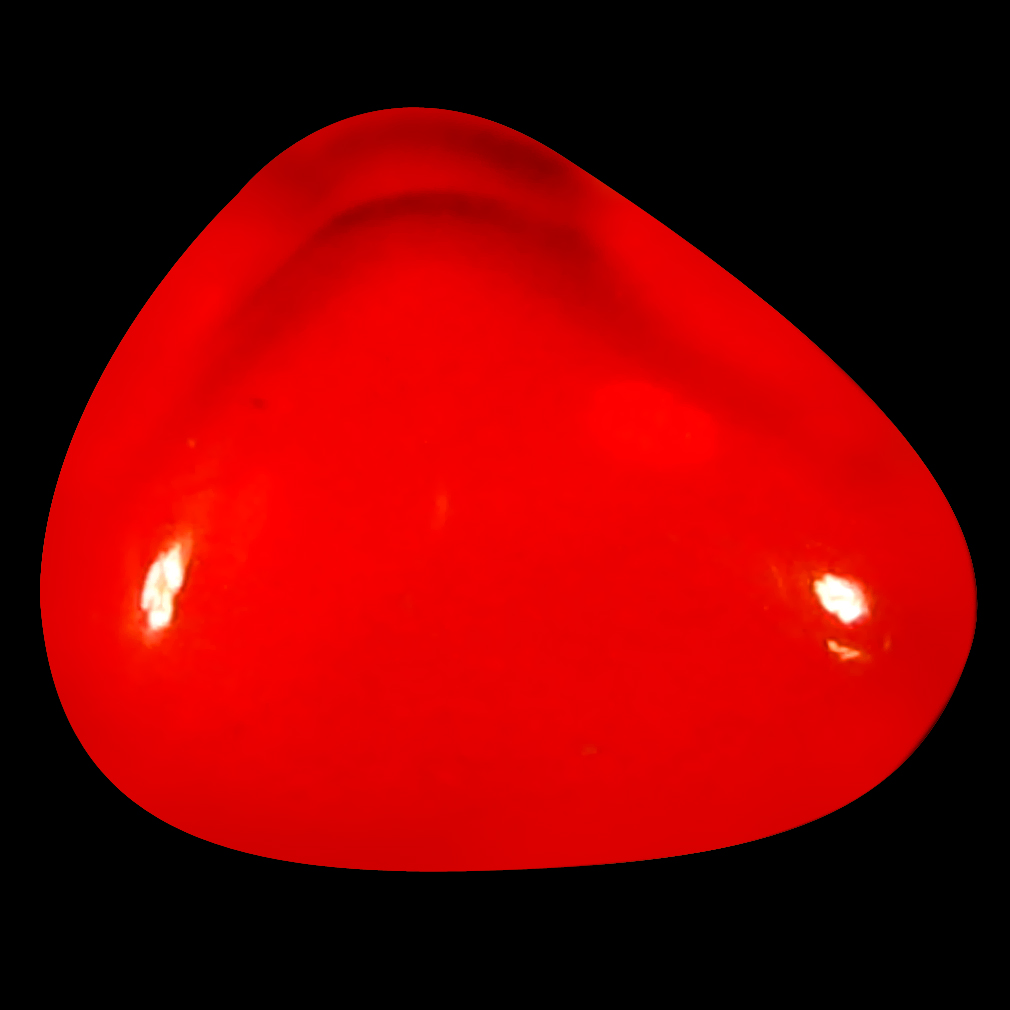 1.54 ct Best Fancy Cabochon Cut (9 x 8 mm) Flashing 360 Degree Multicolor Red Fire Opal