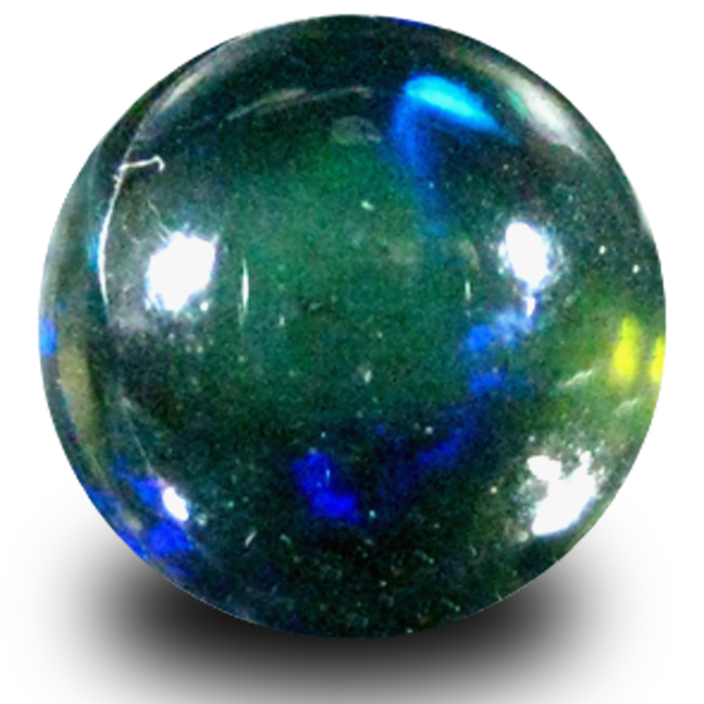 1.91 ct AAA Gorgeous Round Cabochon Shape (9 x 9 mm) Natural Black Opal Loose Stone