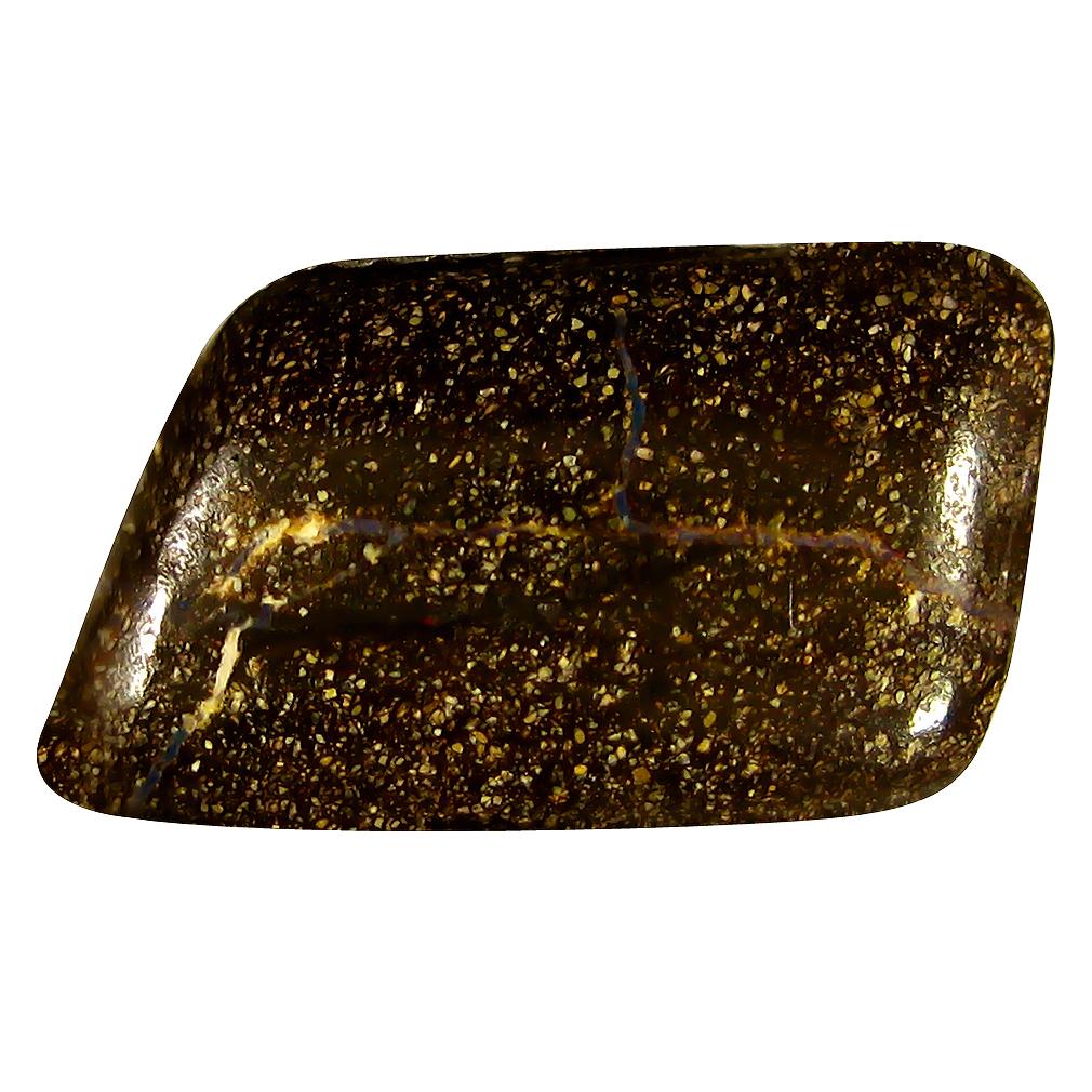 4.48 ct Superb Fancy Shape (15 x 9 mm) Play of Colors Australian Koroit Boulder Opal Natural Loose Gemstone