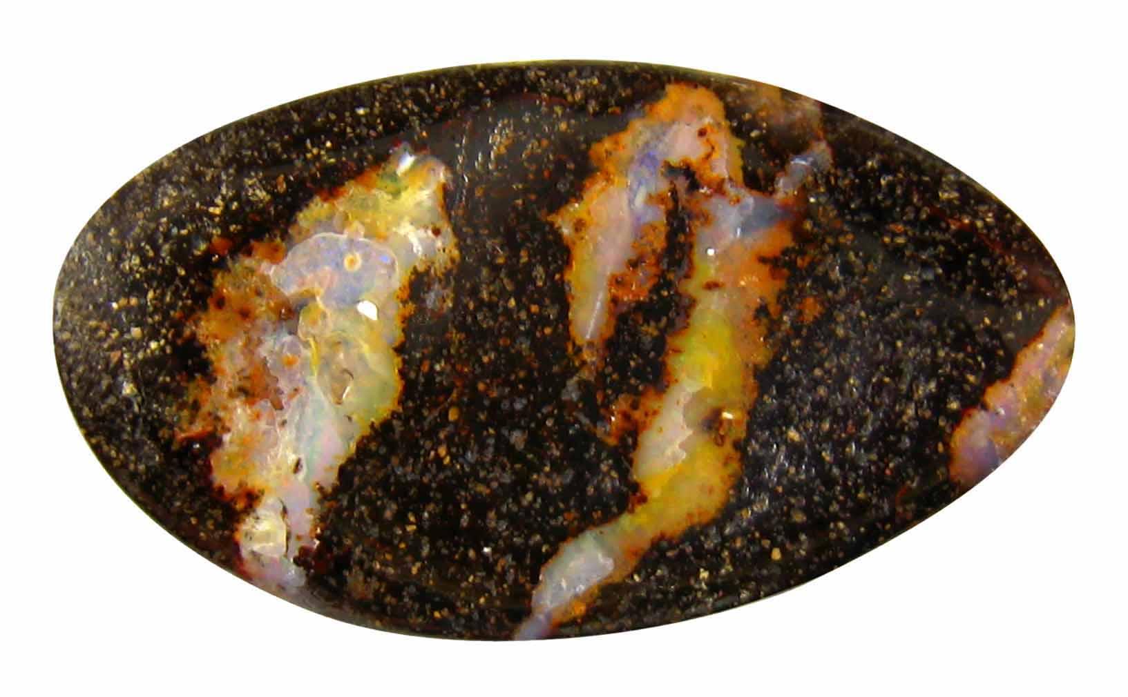 16.15 ct Awe-inspiring Fancy Shape (26 x 16 mm) Play of Colors Australian Koroit Boulder Opal Natural Loose Gemstone