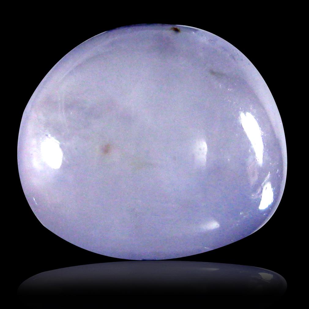 2.60 ct Outstanding Oval Cabochon Cut (10 x 9 mm) Un-Heated Purplish Blue Hackmanite Natural Gemstone