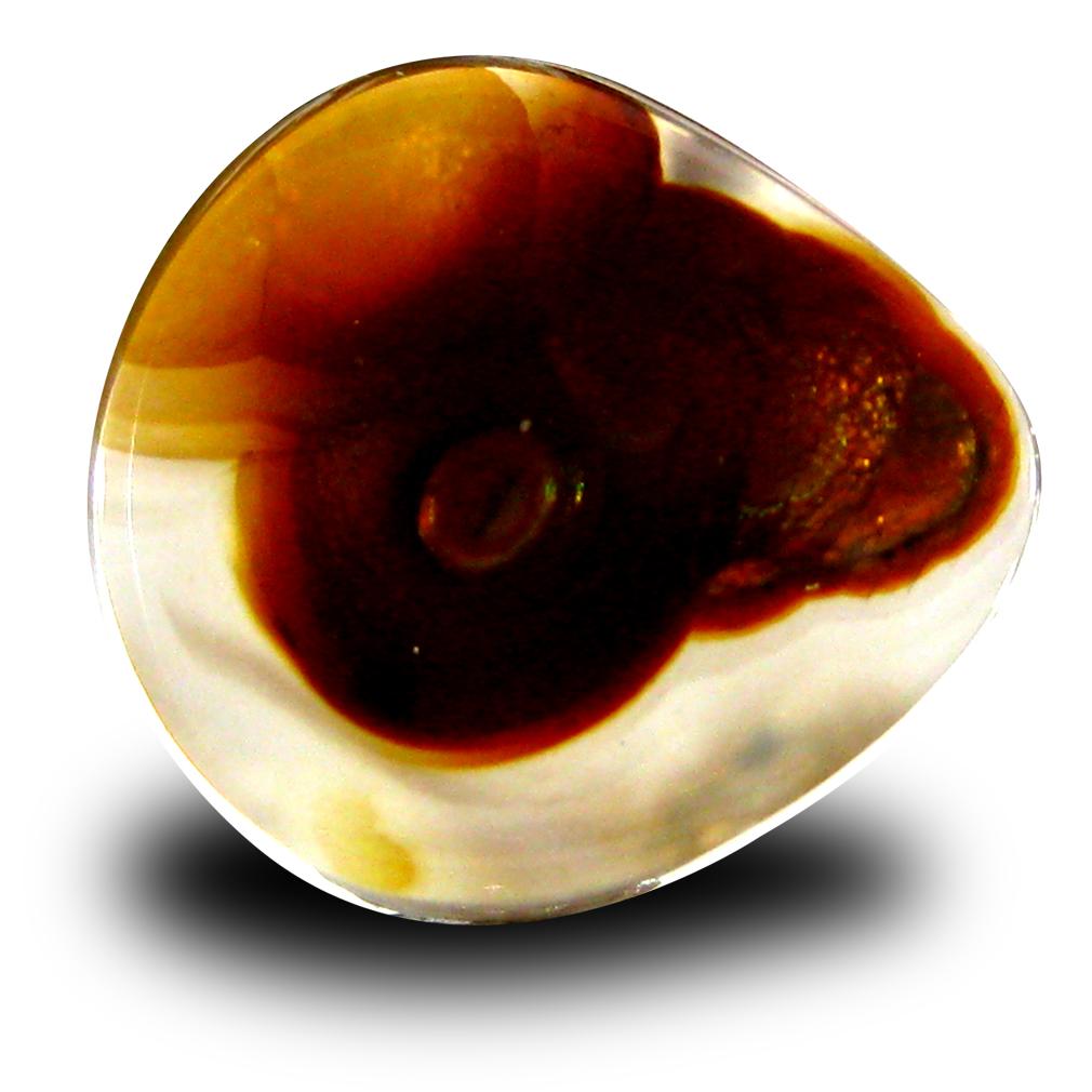 4.29 ct Spectacular Fancy Cut (14 x 13 mm) Un-Heated Multi Color Fire Agate Natural Gemstone