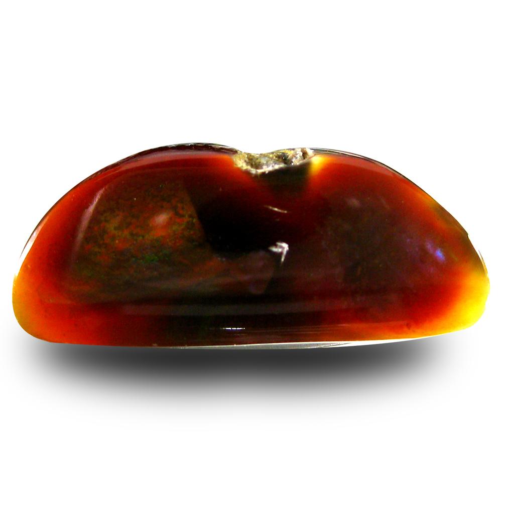 10.00 ct Beautiful Fancy Cut (23 x 10 mm) Un-Heated Multi Color Fire Agate Natural Gemstone