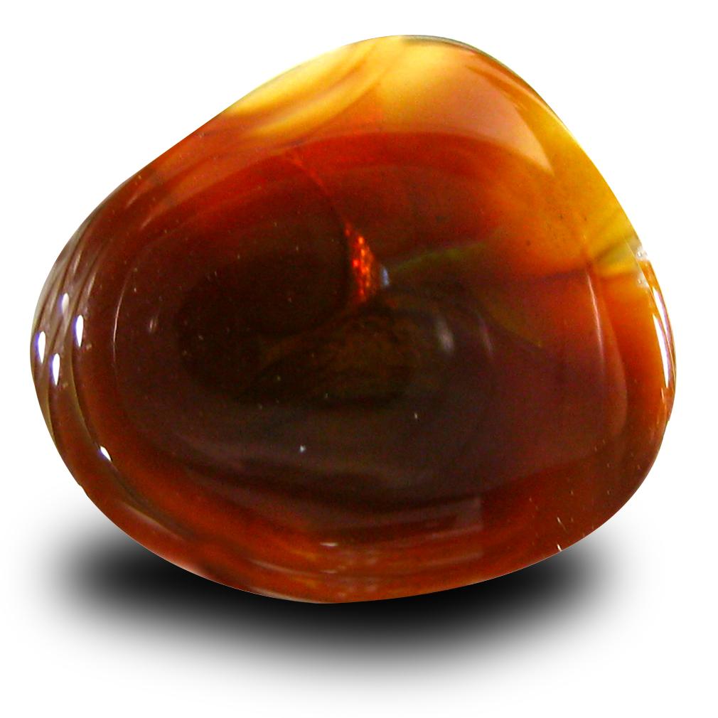 7.40 ct Spectacular Fancy Cut (14 x 13 mm) Un-Heated Multi Color Fire Agate Natural Gemstone