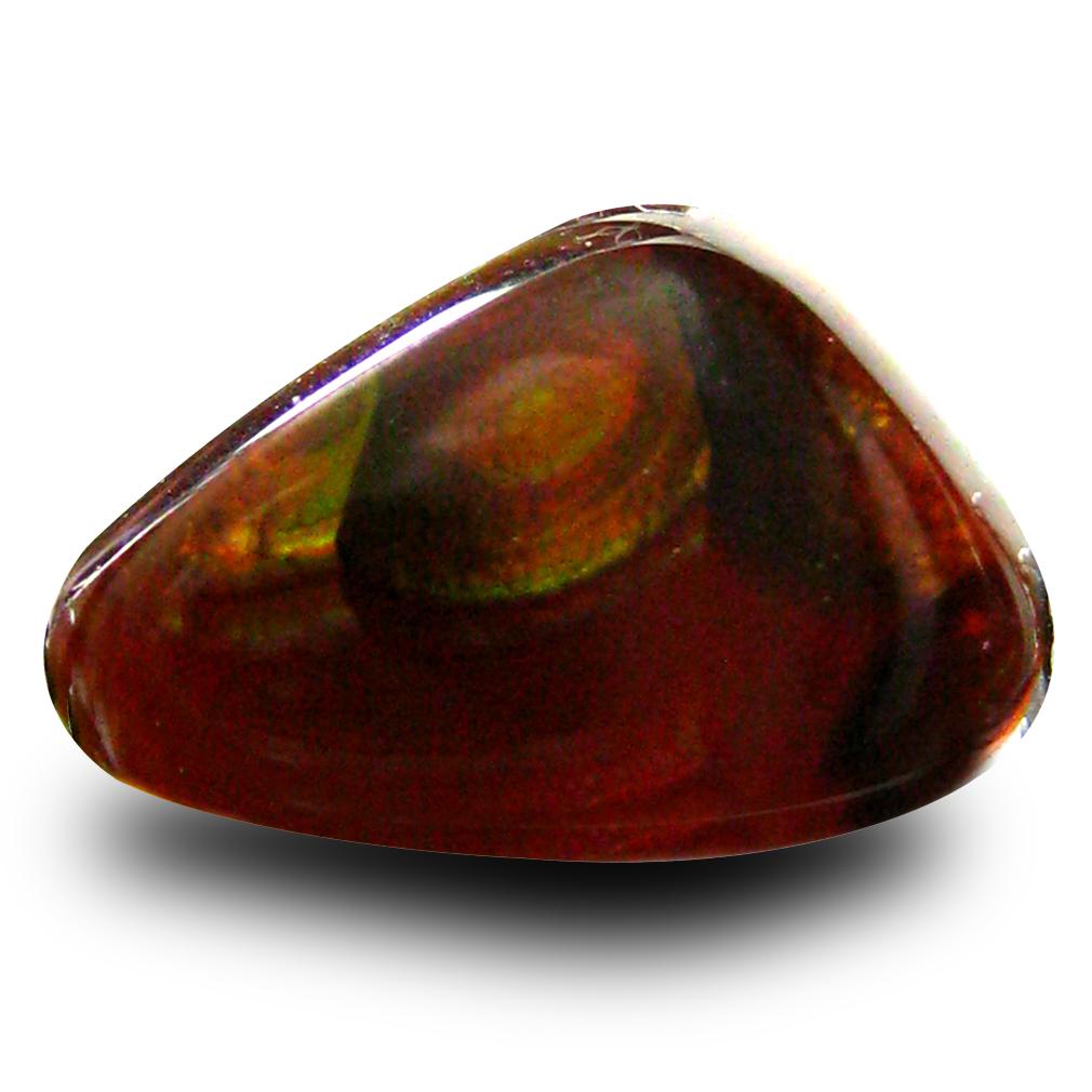 3.22 ct Wonderful Fancy Cut (13 x 9 mm) Un-Heated Multi Color Fire Agate Natural Gemstone