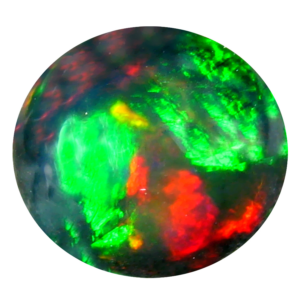 1.38 ct AAA+ Fantastic Oval Cabochon Shape (9 x 4 mm) Natural Black Opal Loose Stone