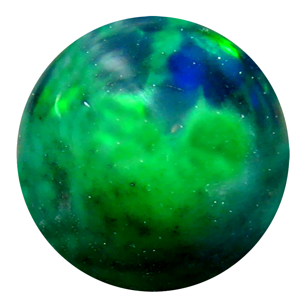 1.76 ct AAA+ Magnificent Round Cabochon Shape (8 x 8 mm) Natural Black Opal Loose Stone