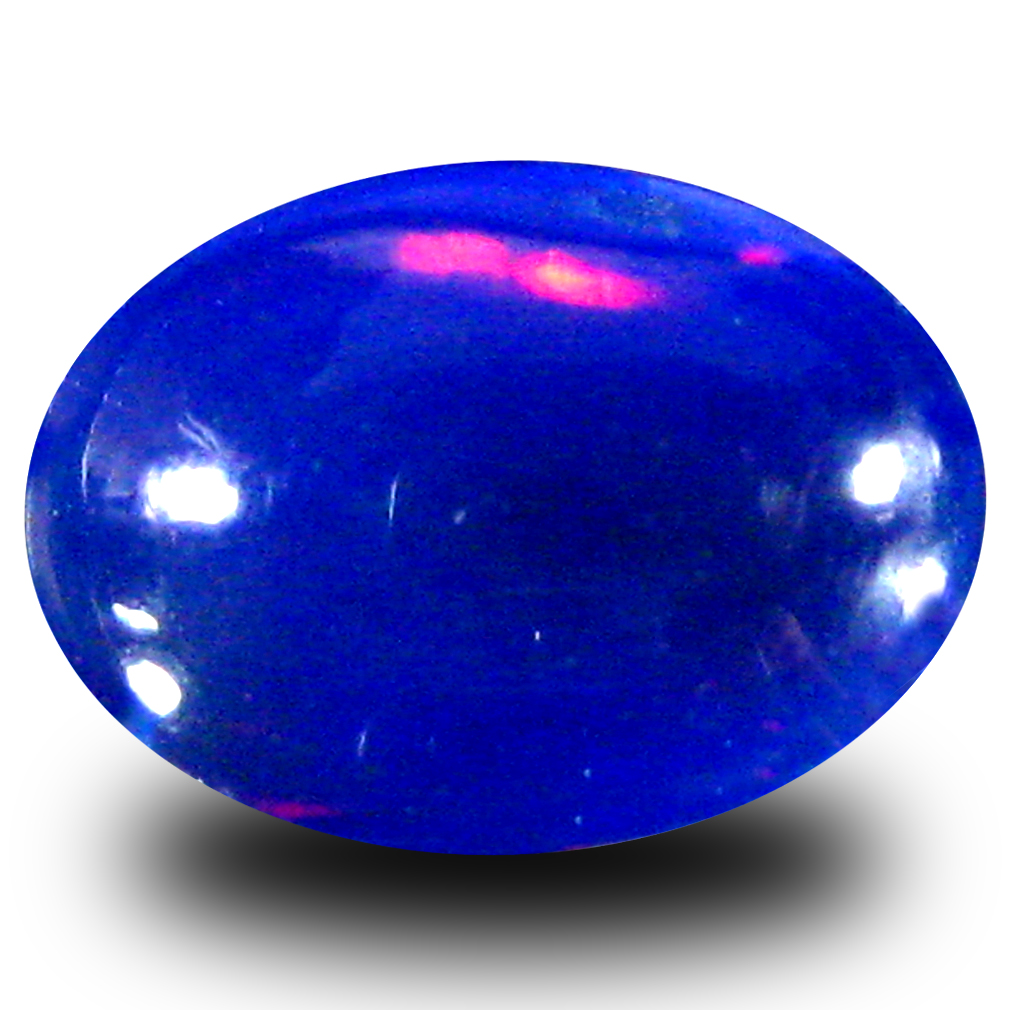 1.12 ct  Eye-popping Oval Cabochon Shape (10 x 7 mm) Violet Opal Natural Gemstone