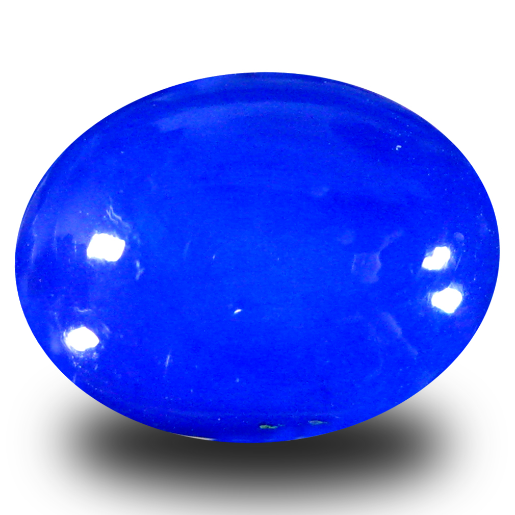 3.92 ct  Sparkling Oval Cabochon Shape (13 x 10 mm) Violet Opal Natural Gemstone