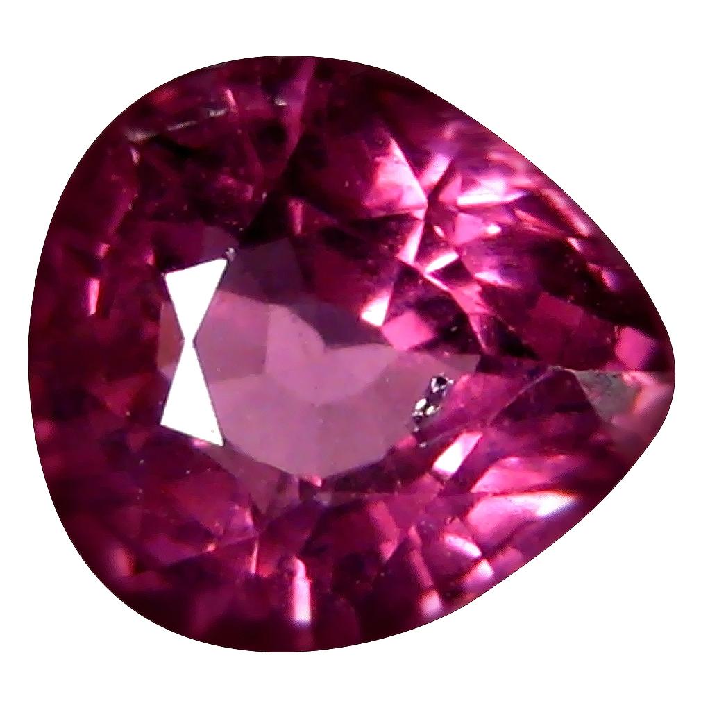 1.11 ct AAA+ Elegant Pear Shape (6 x 6 mm) Pinkish Red Rhodolite Garnet Natural Gemstone